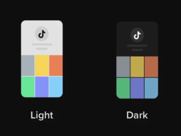 tiktok dark mode