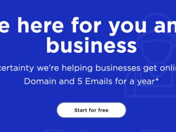 yahoo business бесплатный домен