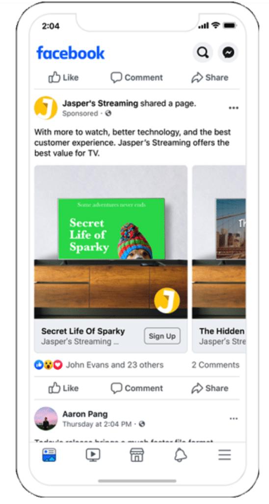 Динамическая реклама Facebook